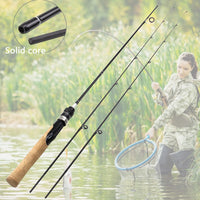 1.68M lure rod 2 Tips Carbon Fiber Spinning Rod ul power