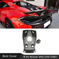 Dry Carbon Fiber Rear Bumper Trunk Tail Cover Boot Lid Trim