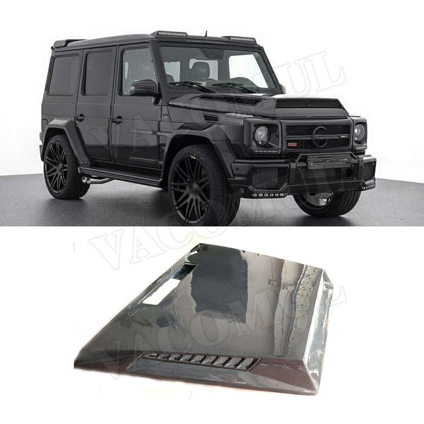 Carbon Fiber Front Engine Hood Vent Cover for Mercedes Benz G-CLASS W463 G500 G550 G55 G63 AMG 04- 17 Car Bonnet Cap Car Styling - 8k Carbon Fiber Accessories