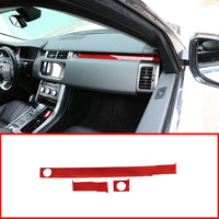 Real 100% Red Carbon Fiber Passenger Decoration Trim For