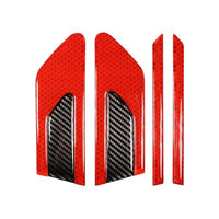 HYZHAUTO 2Pcs Car Leaf Board Reflective Sticker 3D Carbon