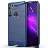 Carbon Fiber Case For Moto G8 Power G5S C Plus G7 G6 E6 E4