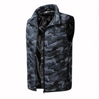 Winter Mens Warm Sleeveless Jacket Male Casual Coat Carbon