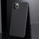 Carbon Fiber Soft TPU Case for iPhone 11 2019 11Pro Luxury Phone Cases For iPhone 11 Pro Max Shockproof Back Cover Silicone Capa - 8k Carbon Fiber Accessories
