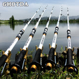 GHOTDA New Design White Spinning Fishing Rod FRP + Carbon