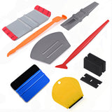 FOSHIO Vehicle Carbon Fiber Vinyl Wrap Window Tint Tools Set