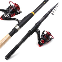 1.8m 2.1m 2.4m 2.7m 3.0m Carbon Fiber Telescopic Fishing Rod