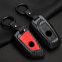 Fashion ABS Carbon fiber Car Remote Key Case Cover For BMW 1