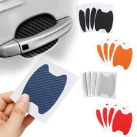 4Pcs/Set Car Door Sticker Carbon Fiber Scratches Resistant