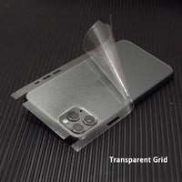 Transparent 3D Carbon Fiber Skins Film Wrap Skin Phone Back