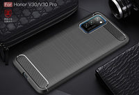 For Honor View 30 Pro Case Carbon Fiber Cover Shockproof