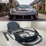 458 Carbon fiber FRP front bumper lip rear bumper diffuser side skirts engine hood for Ferrari 458 PD style car body kit - 8k Carbon Fiber Accessories