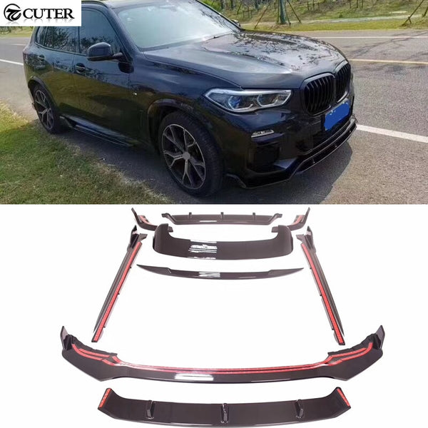 Newest G05 X5 Carbon Fiber front lip rear diffuser Rear