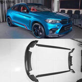 F85 F86 F15 F16 3D style carbon fiber front bumper lip rear bumper diffuser side skirts for BMW F15 X5 F16 X6 X5M X6M 2014UP - 8k Carbon Fiber Accessories