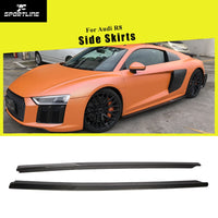 For Audi R8 2016 2017 2018 Car Side Skirts Extension Lips