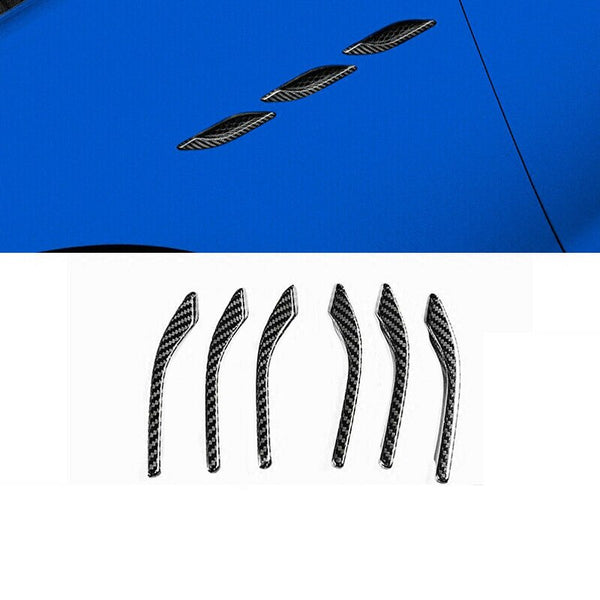 6pcs Carbon Fiber Style Side Wing Air Vent Intake Inlet Flow Fender Cover Trim Grill fit for Maserati Ghibli 2014 -2017 2018 - 8k Carbon Fiber Accessories