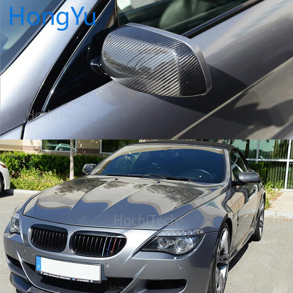 For BMW 5 series E60 sedan 545i 550i 2004-2007 100% Real Carbon Fiber Rear View Mirror Cover Side Mirror Caps car styling - 8k Carbon Fiber Accessories