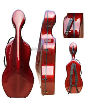 Cello Case 4/4 Carbon Fiber Cello Hard Case Box Red Color