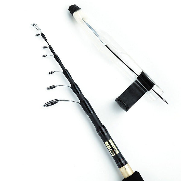Telescopic Fishing Rod Carbon Fiber Ultralight Pole Portable