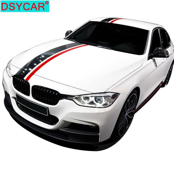 DSYCAR 1Set Carbon Fiber Car Styling Hood Bonnet Roof Rear