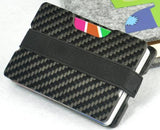 Portable Fashion Carbon Fiber Card Holder Male Business RFID