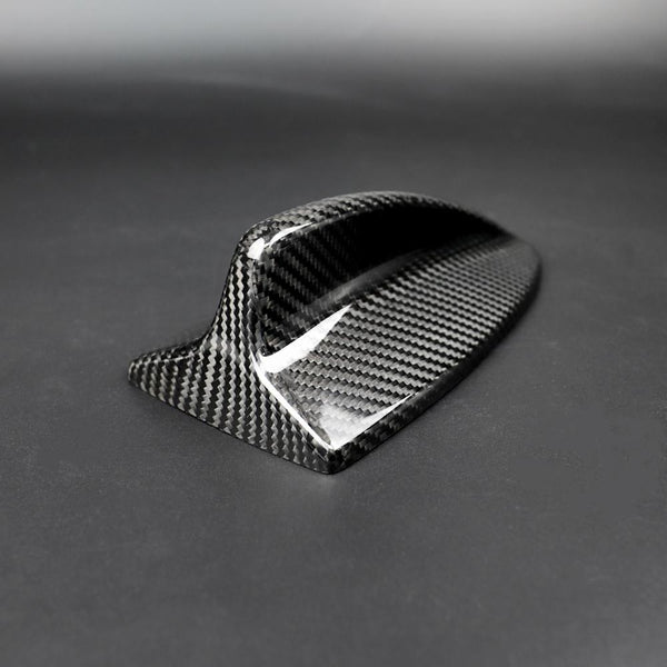 Car Carbon Fiber Antenna Shark Fin Cover Trim Auto Roof