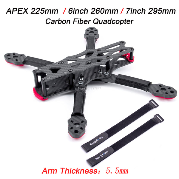 NEW APEX 225mm 225 / 6inch 260mm / 7inch 295mm Carbon Fiber