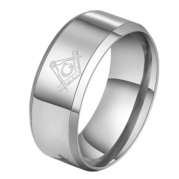 Letdiffery Cool Masonic Rings Stainless Steel Wedding Rings