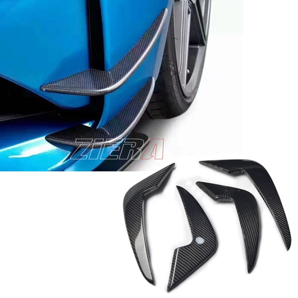 Carbon Fiber Front Bumper Canards/Air Ducts for BMW M2 F87