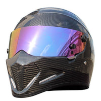 2020 New Brand Retro Carbon Fiber Motorcycle Helmet Men Full