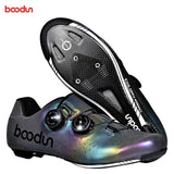 BOODUN Cycling Shoes Carbon Fiber Colorful Luminous Outdoor
