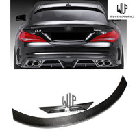 W117 High Quality Carbon Fiber Rear Spoiler Wing Car Styling
