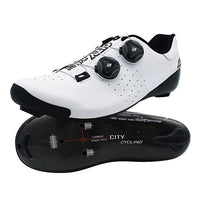Heatmoldable Carbon Fiber Cycling Road Shoes Pro Two laces