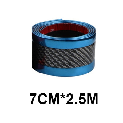Carbon Fiber Rubber Moulding Strip Soft Black Trim Strip DIY