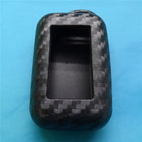 Carbon Fiber Silicone Car Key Case For StarLine E95 E65 E90
