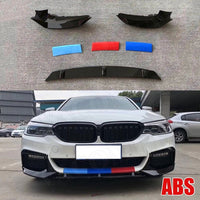 5 Series Carbon Fiber & ABS Front Bumper Lip Splitters for