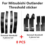 For Mitsubishi Outlander 2013 2017 2018Car Threshold sticker