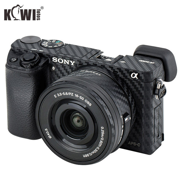 KIWIFOTOS Camera Body Cover Carbon Fiber Film Kit For Sony