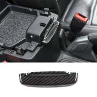 Carbon Fiber Armrest Storage Switch Trim For Jeep Wrangler