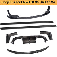 M3 M4 Body Kits Car Bumper Lip Diffuser Spoiler Side Skirts