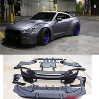 GTR GT-R R35 LB Car body kit Carbon fiber + FRP Wide body