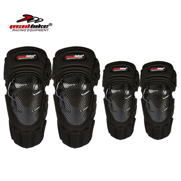 Madbike carbon fiber Motorcycle Knee Pads and Elbow Pads