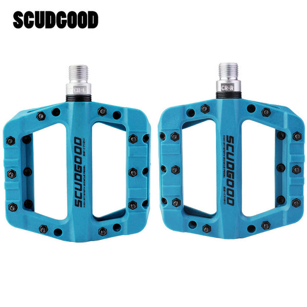 SCUDGOOD Bicycle Pedal Nylon Carbon Fiber Ultralight Wide