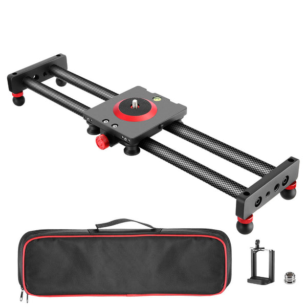 Neewer Camera Slider Carbon Fiber Dolly Rail 16 inches/40