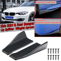 2pcs 35cm/48cm Universal Car Side Skirt & Rear Bumper