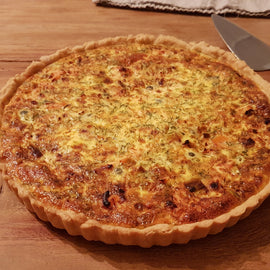 Salmon and Leek Quiche with Capers (orders 3 days in advance)