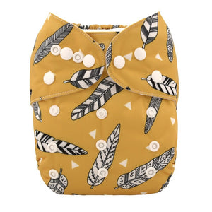 Alva Baby Tribal Feathers Print Modern Cloth Nappy