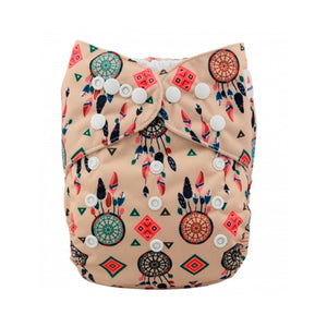 Alva Baby Boho Dreamcatchers Print Modern Cloth Nappy
