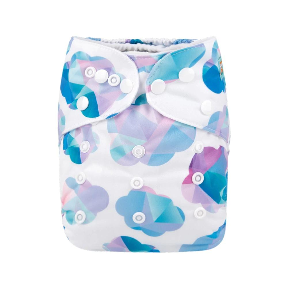 Alva Baby Geometric Clouds Print Modern Cloth Nappy