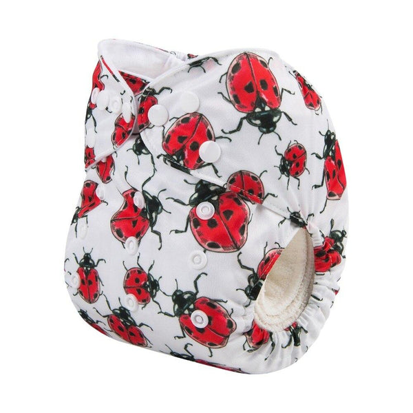 Alva Baby Lady Beetles Print Modern Cloth Nappy